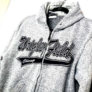 Chicago Cubs Womens Full Zip Grey Jacket